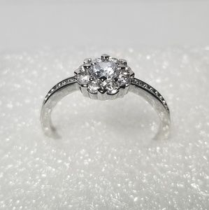 Jewelry - 925 Sterling Silver Diamond Ring Size 11.5